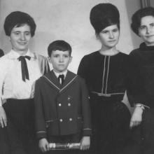 Laci fia és családja, Miskolc, 1960-as évek eleje