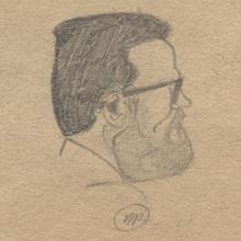 Zimonyi tanár úr közelebbről. Nem emlékszem, ki rajzolta. Kitűnőek, Kalász kevésbé találó.