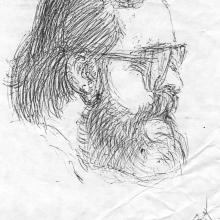 K. Laczy, azaz Kalász László rajza, azt hiszem, a Tokaji Írótábor egyik unalmas előadásán firkantotta a '80-as években.