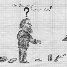 Tóth Niki rajza, Qualitas Gimnázium, 1995 tájt.