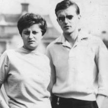 Nővéremmel Drezdában 1962 nyarán