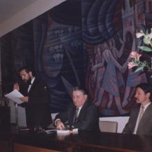Németh László emlékest a Szlovák Intézetben 1991 tavasza.